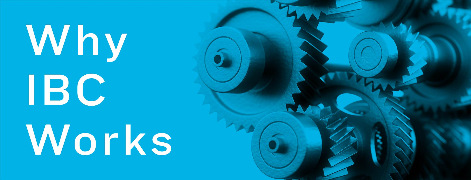 Gears turning (Why IBC Works)